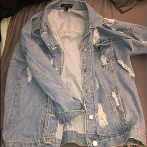 Forever 21 Jean Ripped Jacket